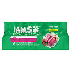 Iams® Pro Active Health Adult Dog Food - Beef & Rice, Pate, 6ct