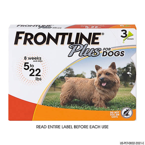 Frontline Plus 5 22 Lb Dog Flea Tick Treatment
