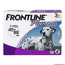 FRONTLINE® Plus 45-88 Lb Dog Flea & Tick Treatment
