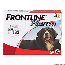 FRONTLINE® Plus 89-132 Lb Dog Flea & Tick Treatment