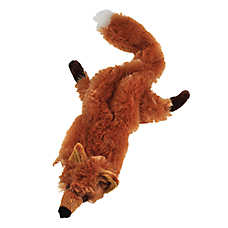 As Seen On TV Crazy Critters Fox Dog Toy - Stuffing-Free, Squeaker