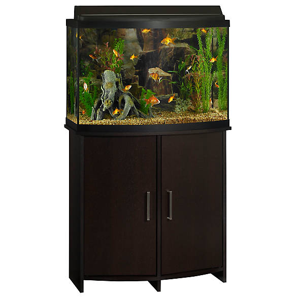 Top fin bowfront aquarium stand fish aquarium stands for Petsmart fish tank stand