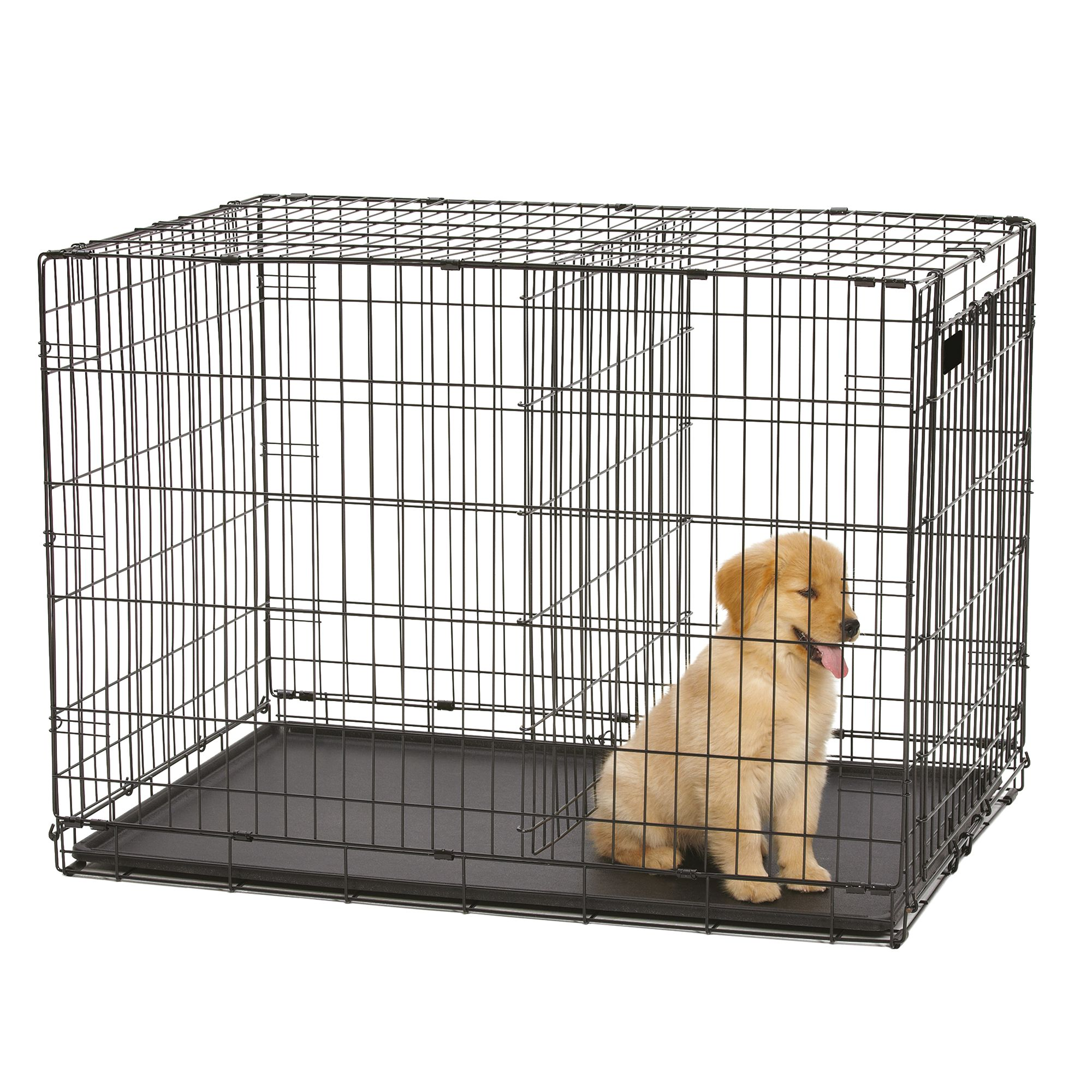 Double Door Large Wire Dog Crate