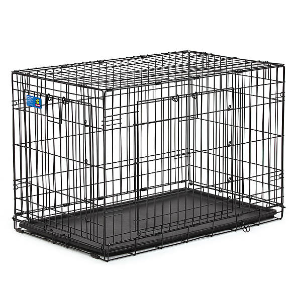 Dog enclosures create a cozy place for your pet at home or on the go. Find durable and versatile dog cages, crates and kennels.