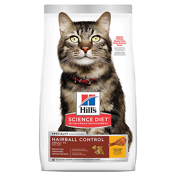 Dry Cat Food Hairball Control