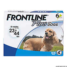 FRONTLINE® Plus 23-44 Lb Dog Flea & Tick Treatment