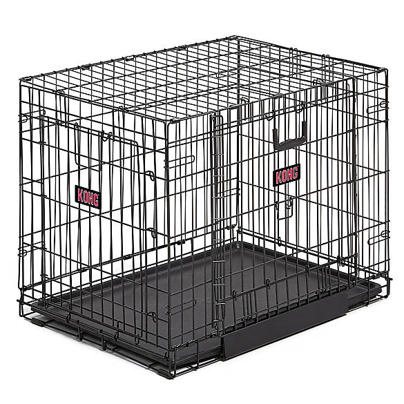 KONG® Space Saving Double-Door Pet Crate | Tuggl