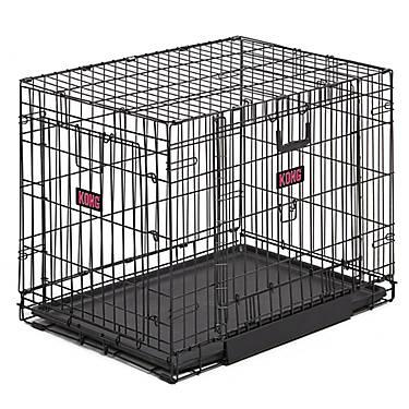 Kong Space Saving Double Door Pet Crate Dog Carriers Crates