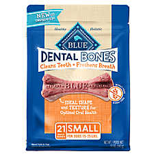 BLUE Dental Bones™ Small Dog Treat - Natural
