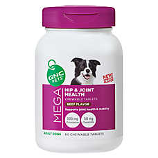 GNC Pets® Mega Hip & Joint Health Chewable Dog Tablets - Beef