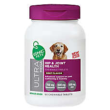 GNC Pets® Ultra Mega Hip & Joint Health Senior Dog Chewable Tablets - Beef