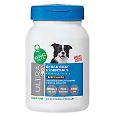 GNC Pets® Ultra Mega Skin & Coat Essentials Adult Dog Chewable Tablets - Beef