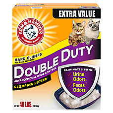 sale 2/$25  ARM & HAMMER™ cat litter, 28 & 40 lb. boxes