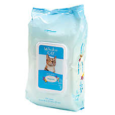 Whisker City® Gentle Tearless Cat Wipes - Spring Breeze