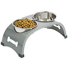 Top Paw® Elevated Arch Double Diner Dog Bowls