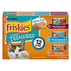 Purina® Friskies® Tasty Treasures with Cheese Variety Pack Cat Food
