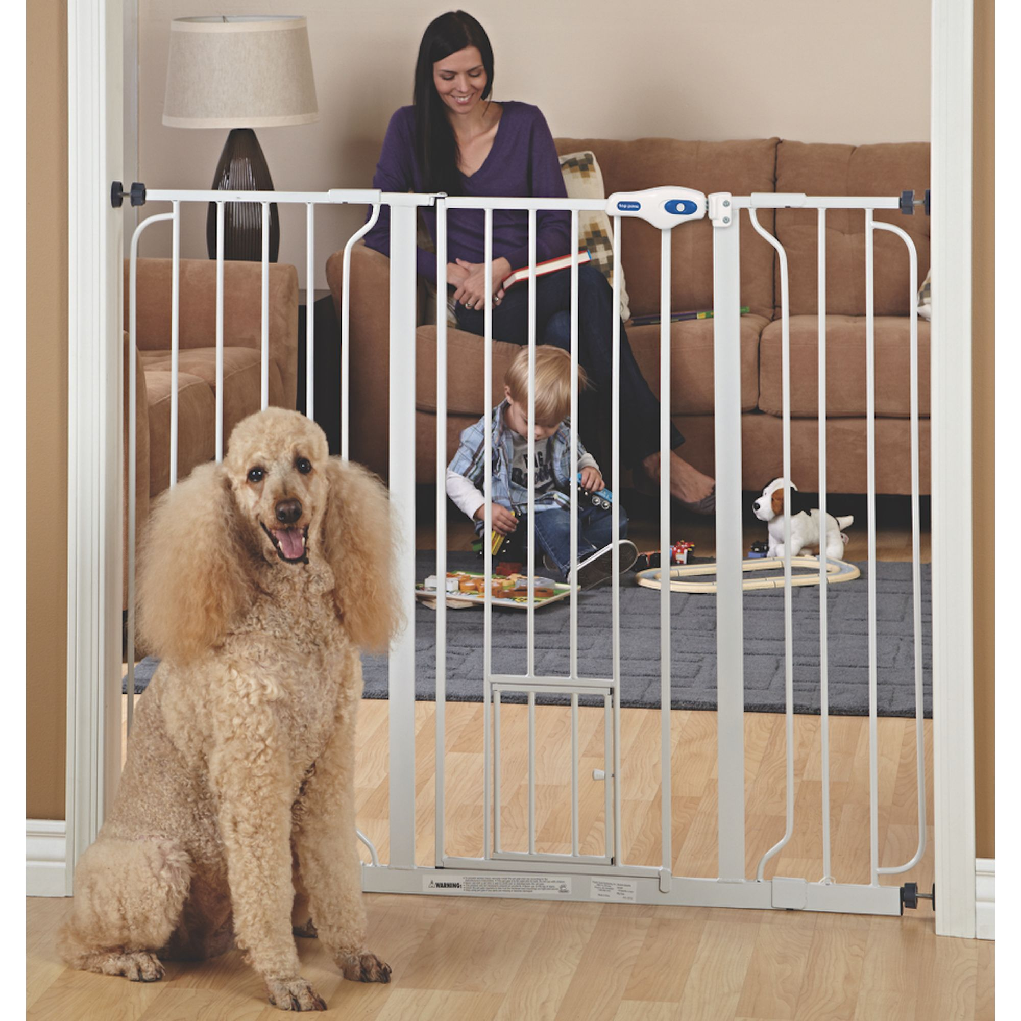 Top Paw Extra Tall Pet Gate Dog