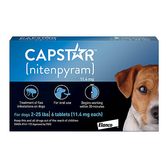 Capstar For Dogs Cats 2 25 Lbs Flea Pills Petsmart