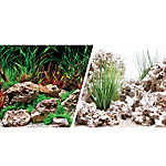 Marina® Reversible Precut Planted Hideaway & Texas Cloud Aquarium Background