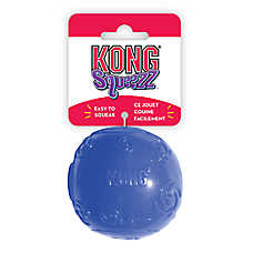 KONG® Squeezz Ball Squeaker Dog Toy (COLOR VARIES)