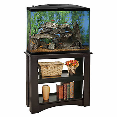 Marineland 37 gallon led hood aquarium stand ensemble for Petsmart fish tank stand
