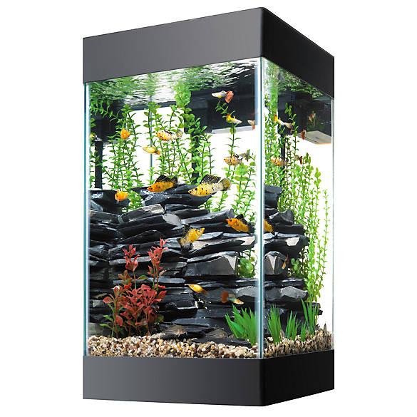 Aqueon 15 gallon column deluxe aquarium kit fish for Column fish tank