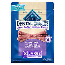 BLUE Dental Bones™ Large Dog Treat - Natural