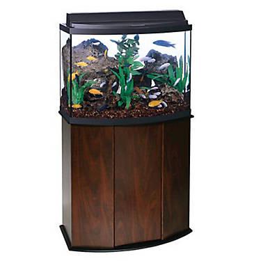 Aqueon 36 gallon bow front aquarium ensemble fish for Petsmart fish aquariums