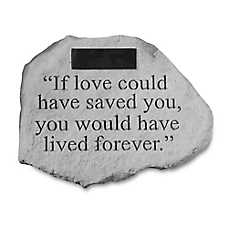 Kay Berry If Love Could Personalized Pet Memorial Stone
