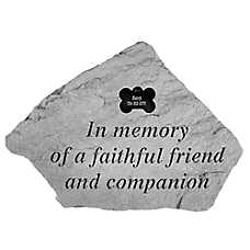 Kay Berry In Memory Bone Dog Tag Personalized Memorial Stone