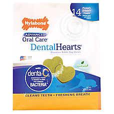 Nylabone Advanced Oral Care Dental Hearts Dog Chew