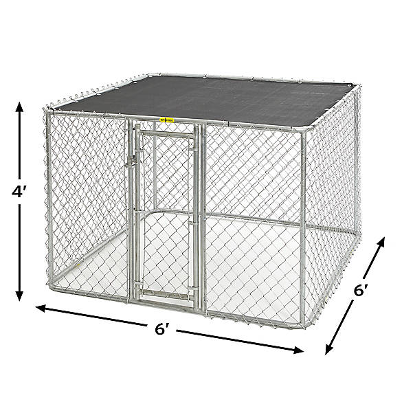 Midwest Chain Link Portable Kennel With Sunscreen Dog Houses Pens Petsmart