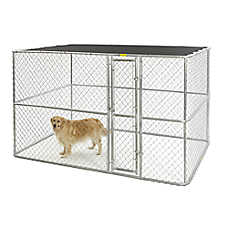 MidWest® Chain Link Portable Kennel with Sunscreen