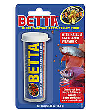 Zoo med betta micro floating pellets fish food fish for Betta fish pellets