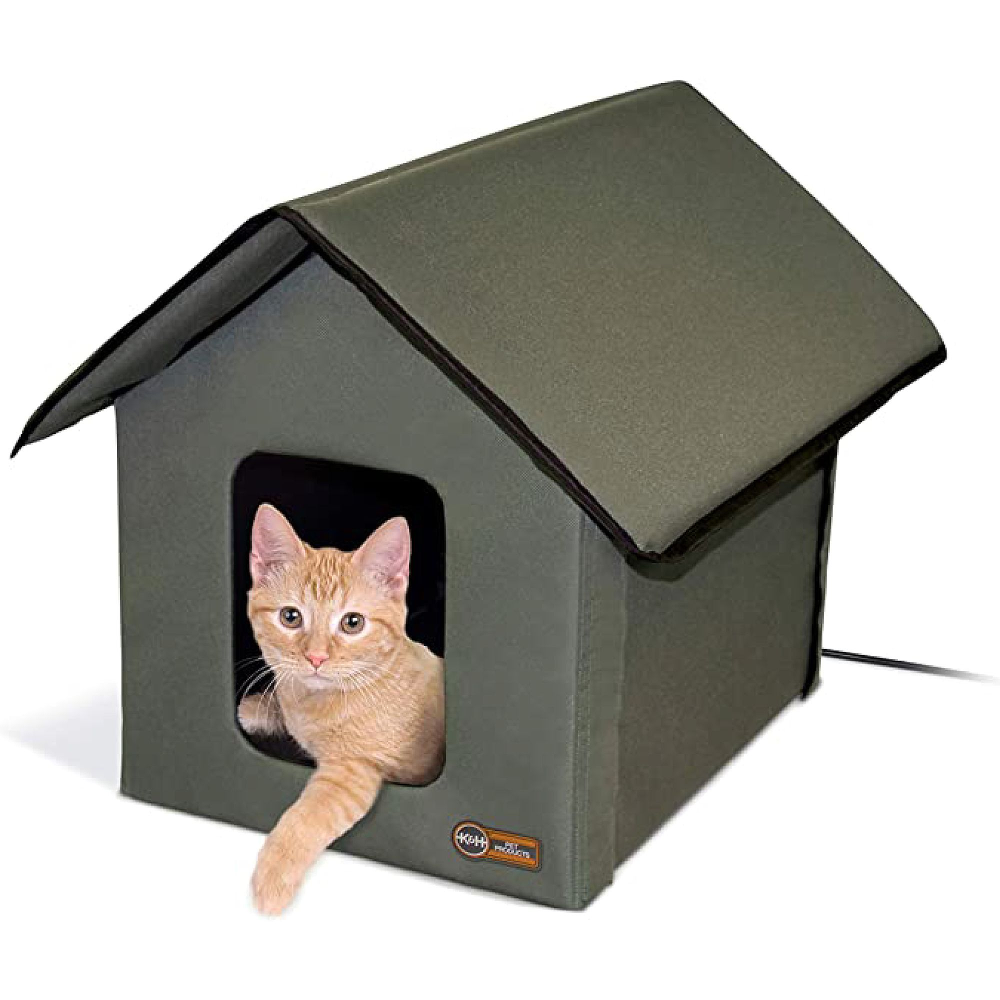 Heated Cat House K H Heated Outdoor Cat House Petsmart