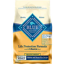 BLUE Life Protection Formula® Chicken & Brown Rice Small Breed Healthy Weight Adult Dog Food