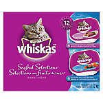 WHISKAS® Seafood Tray Variety 12-Pack Cat Food