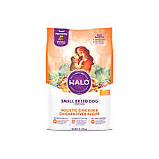 HALO® DreamCoat Small Breed Dog Food - Natural, Holistic Chicken & Chicken Liver Recipe
