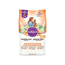 HALO® DreamCoat Indoor Healthy Weight Cat Food - Natural, Grain Free, Chicken & Chicken Liver Recipe