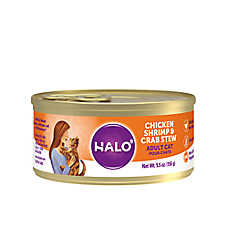 HALO® Adult Cat Food - Natural, Grain Free, Chicken, Shrimp & Crab Recipe