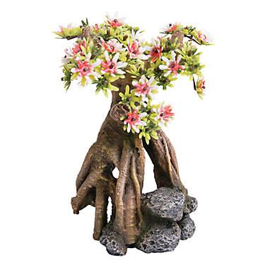 Top fin asian cherry blossom tree aquarium ornament for Petsmart fish decor
