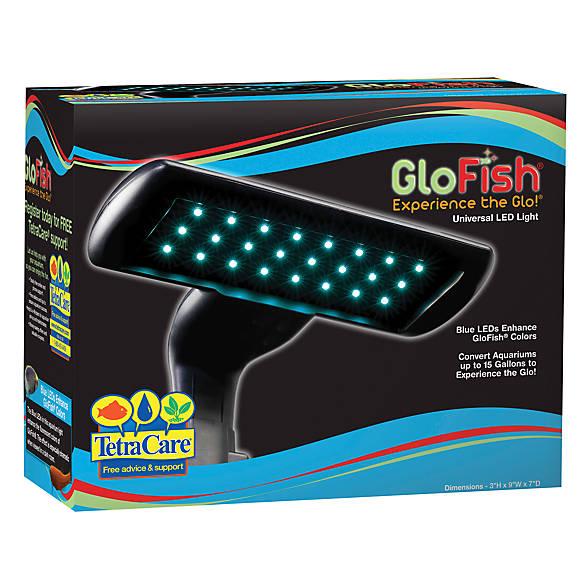 Glofish universal led aquarium light fish lights petsmart for Fish tank heater petsmart