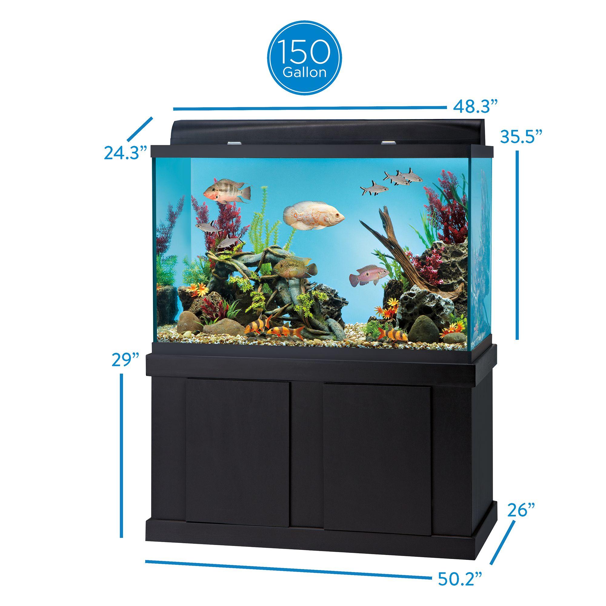 Top Fin Aquarium Ensemble 150 Gallon Fish Aquariums Petsmart