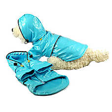 Pet Life Fashion Raincoat With Removable Hood