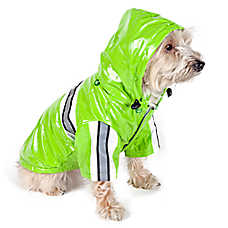Pet Life Raincoat With Removable Hood