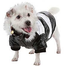 Pet Life Striped Fashion Parka With Removable Hood