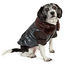 Pet Life Ultra-Fur Collared Dog Coat