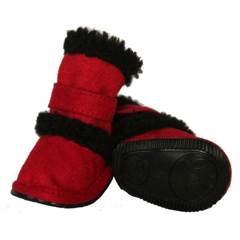 Pet Life Shearling Duggz Dog Shoes