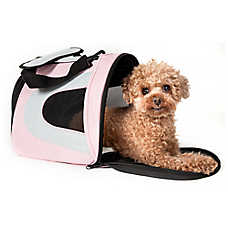 Pet Life Airline Approved Folding Sporty Mesh Pet Carrier