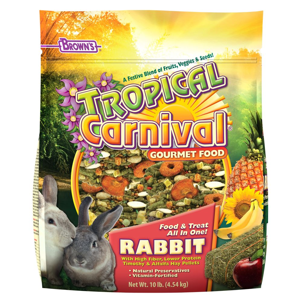 Browns 10lb Tropical Carnival Gourmet Rabbit Food